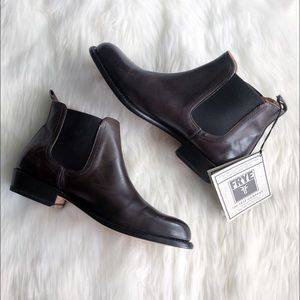 Frye • Chocolate Brown Ankle Booties